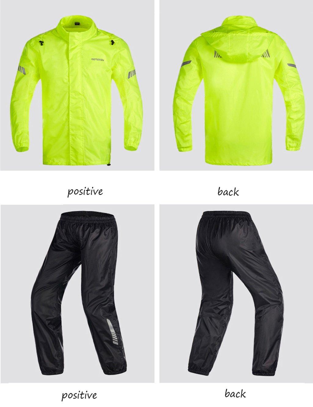 Impermeable- Traje De Lluvia Para Motocicleta Al Aire Libre Para Hombres Traje De Lluvia Reutilizable (Chaqueta Para Lluvia Y Pantalones De Lluvia) Adultos ...