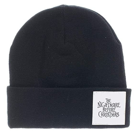5152a0e743d Amazon.com  Nightmare Before Christmas Jack Face Cuff Beanie Winter Hat   Clothing
