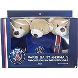 Un lot de 3 doudous Paris Saint Germain - bleu - bébé mixte