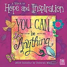 A Year Of Hope & Inspiration - By Deborah Mori 2018 Wall Calendar (CA0175)