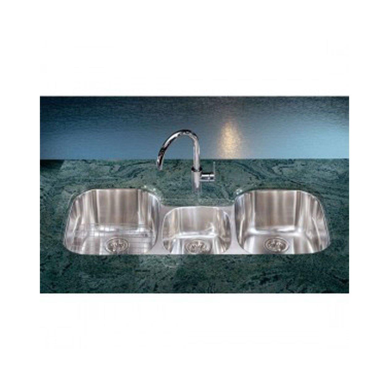 Franke RGX170 Regetta Triple Bowl Undermount Kitchen Sink - Three ...