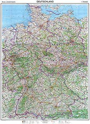 Historische Karte Deutschland 1961 Deutsch Deutsche Grenze