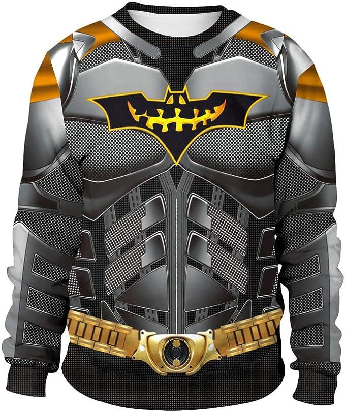 ZGCP Disfraz de Halloween nuevo Batman impresión digital suéter ...