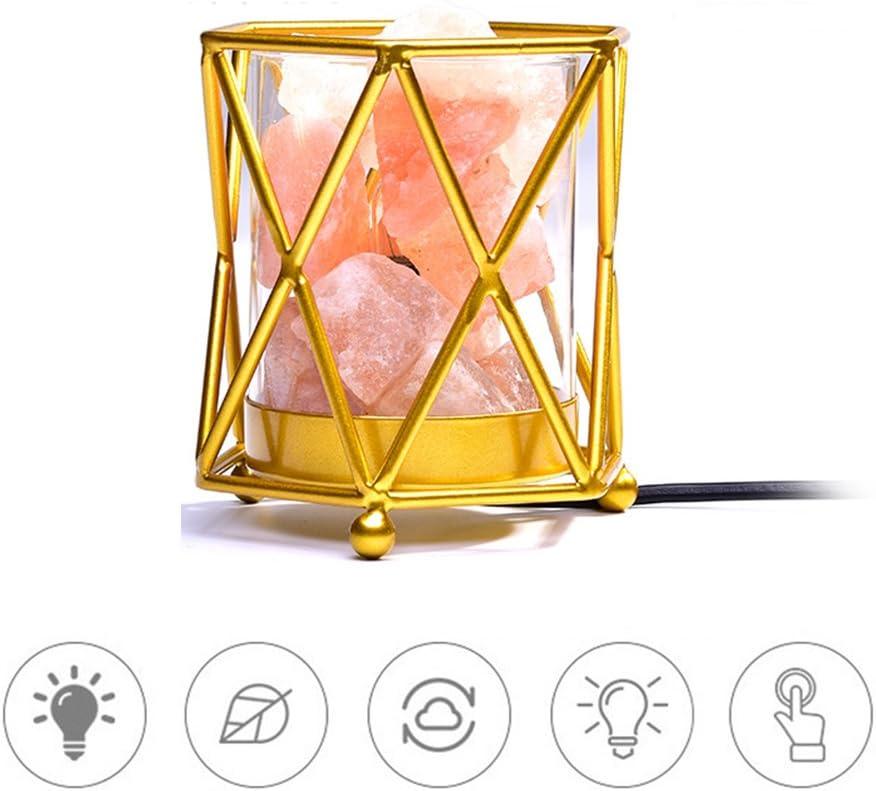 CHEYAL Lámpara De Sal De Cristal del Himalaya Hermosa Lámpara De ...