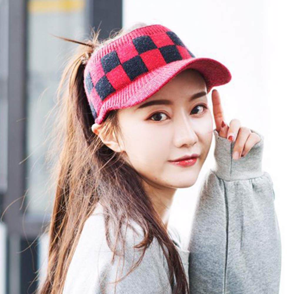 a76a0635 Women's Octagonal Cap Beret Hat -Autumn Winter Warm Fashion Duck Tongue Hat  Solid Color Painter Hat (A) at Amazon Women's Clothing store: