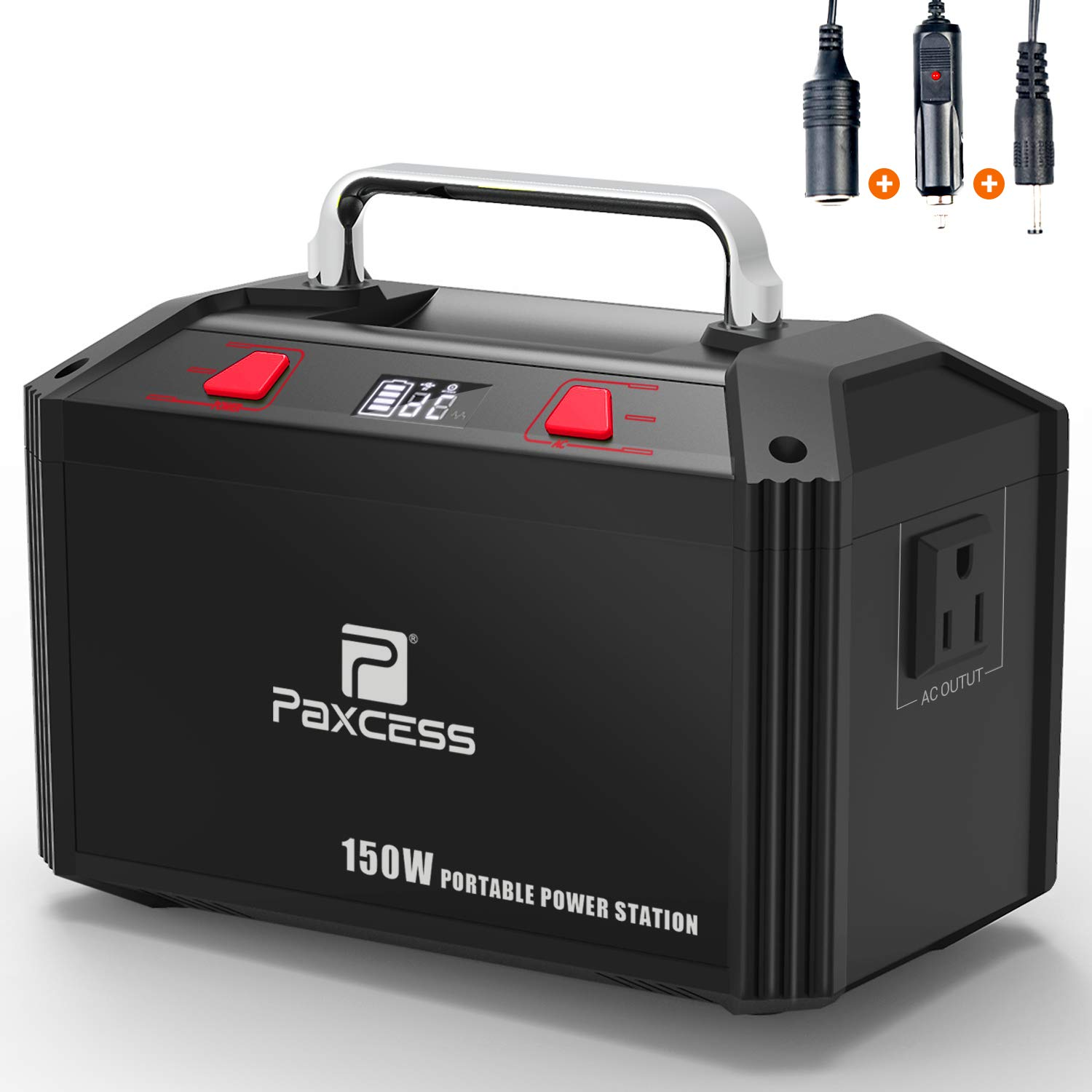PAXCESS Generator Portable Power Station-[150W Upgraded]-Lithium Battery Pack Supply with 110V AC Outlet, 3 DC 12V Ports, 2 USB Port, Solar Electric Small Generators for Camping Travel Home Emergency by PAXCESS (Image #1)