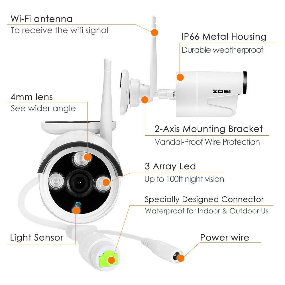 Enjoyable Zosi Wireless Cctv Camera Systems 4Ch 1080P Wireless Surveillance Wiring Cloud Inamadienstapotheekhoekschewaardnl