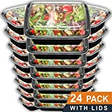 Meal Prep Containers 24 Pack with Lids | 28oz BPA-Free Food Storage and Portion Control by Prep Naturals ()