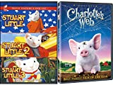 Charlottes Web & STUART LITTLE SET - 1/2/3 Call of the Wild Animated Family 4 Movie Fun