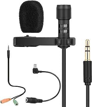 Docooler Yanmai Lavalier Lapel Microphone Clip-on Omnidirectional ...