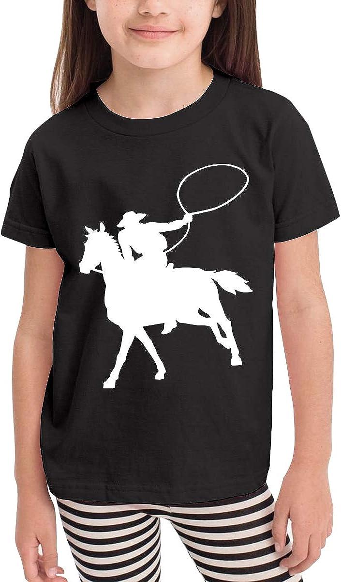 Baby Girls Kids Horse Cowboy Cute Short Sleeve Tee Tops Size 2-6