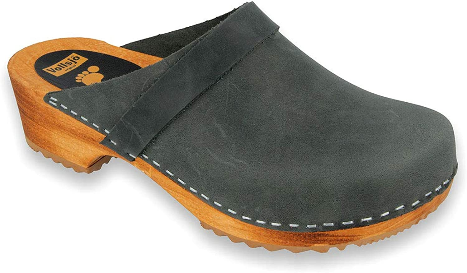 Genuine Leather Wooden Clogs Made in EU