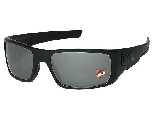 91f35ae9cd4 Oakley Crankshaft OO9239-06 Matte Black   Black Iridium Polarized Sunglasses   Amazon.co.uk  Clothing