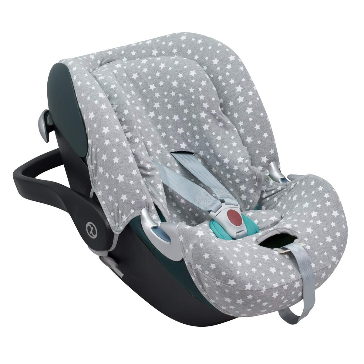Cloud Q M JANABEBE Cover Liner Compatible with Cybex Aton 2 Cloud Q-M Black Rayo