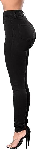 Tenxin Vaqueros Jeans push up Vaqueros Elasticos Mujer cintura alta tallas grandes mujer Pantalones Jeans Mujer Elástico Flacos Skinny Slim Fit
