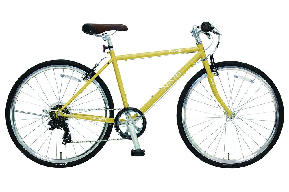 NESTO(ネスト) 街乗り用シンプルクロスバイク バカンゼS 外装7段 430mm マットイエロー NE-17-006 B01MZ3M25H