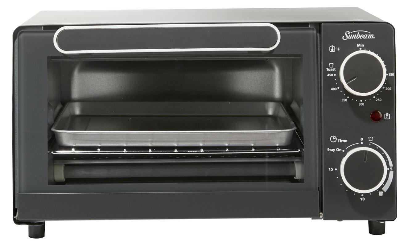 Sunbeam TSSBTV6001 4-Slice Toaster Oven, Black