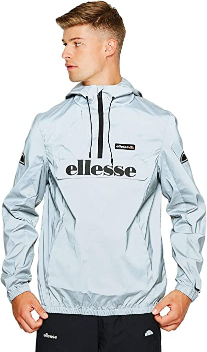 45737b1e ellesse Jacket Hooded Berto Overhead 1/4 Zip - Reflective - Small ...