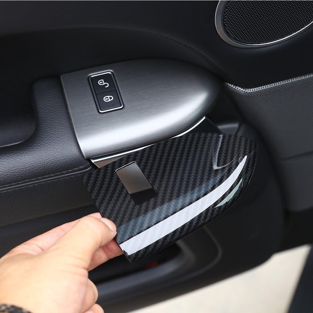 senza cornice pulsante di memoria Seat ABS Plastica di sicurezza per bambini Pulsante di blocco Telaio Trim Accessori per auto in legno di frassino rosso per Range Rover RR Sport 2014-2017