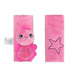 INCHANT Kids Infant Cartoon Soft Safety Belt Cover Seat Strap Cover Shoulder Pad (Pink Angel)