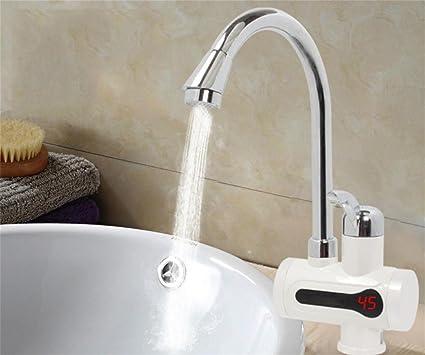 W & probinet de agua caliente de cocina digital grifo de ambiente de agua sin depósito