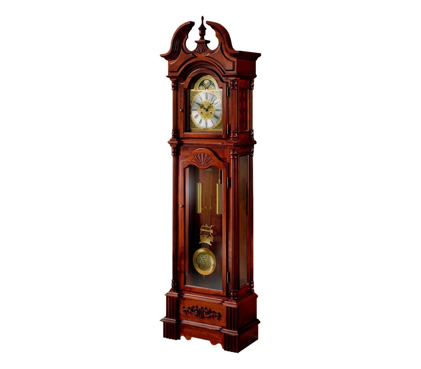 Orologio da terra, Orologio di antesala, Orologio Pie con coordinate meccanica 31días, colore: Ciliegio. 206cm Relojesdeco