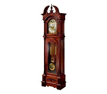 RELOJESDECO Reloj de pie, Reloj de antesala, Reloj pie con maquinaria mecánica 31días, Color Cerezo. 206cm: Amazon.es: Hogar