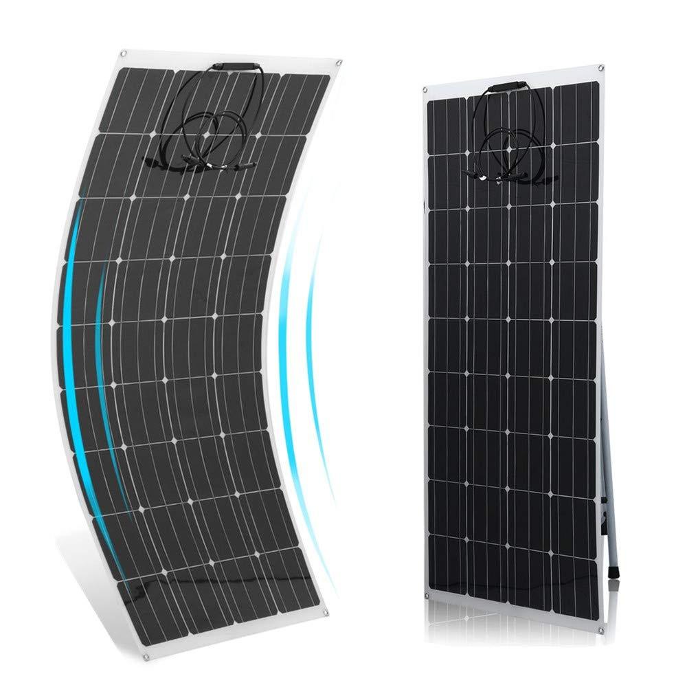 Blackpoolal Monokristalline Solarmodul 175 Watt Flexibel Solarpanel Solarzelle 18V 20V Solar Panel f/ü r Wohnmobil Gartenh/ä use Auto Boot 175W
