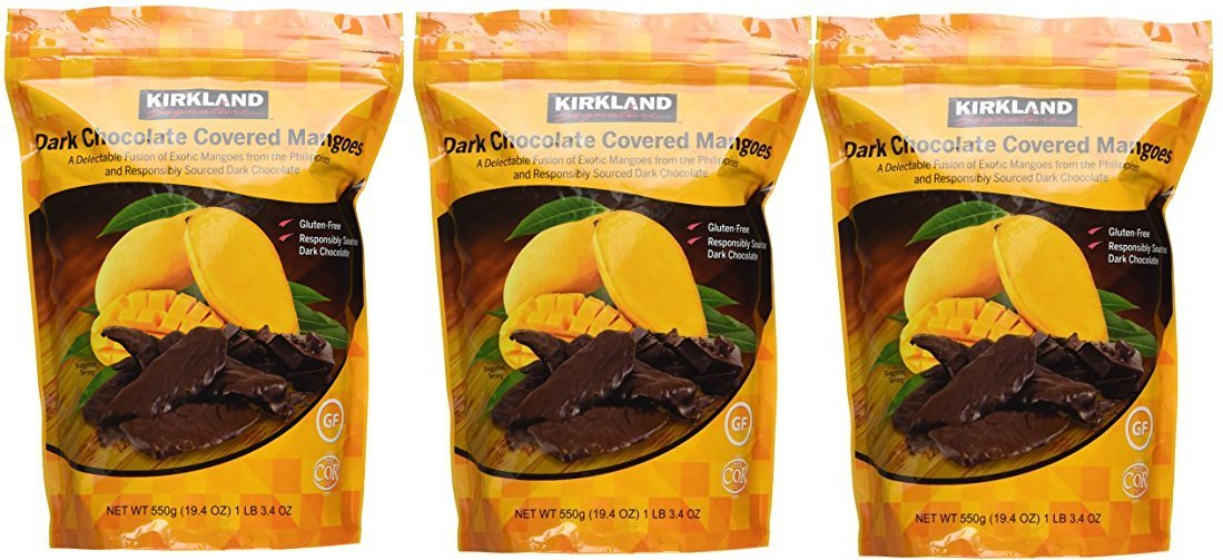 Dark Chocolate Covered Mangoes 3 pack 19.4 oz each one by Kirkland Signature