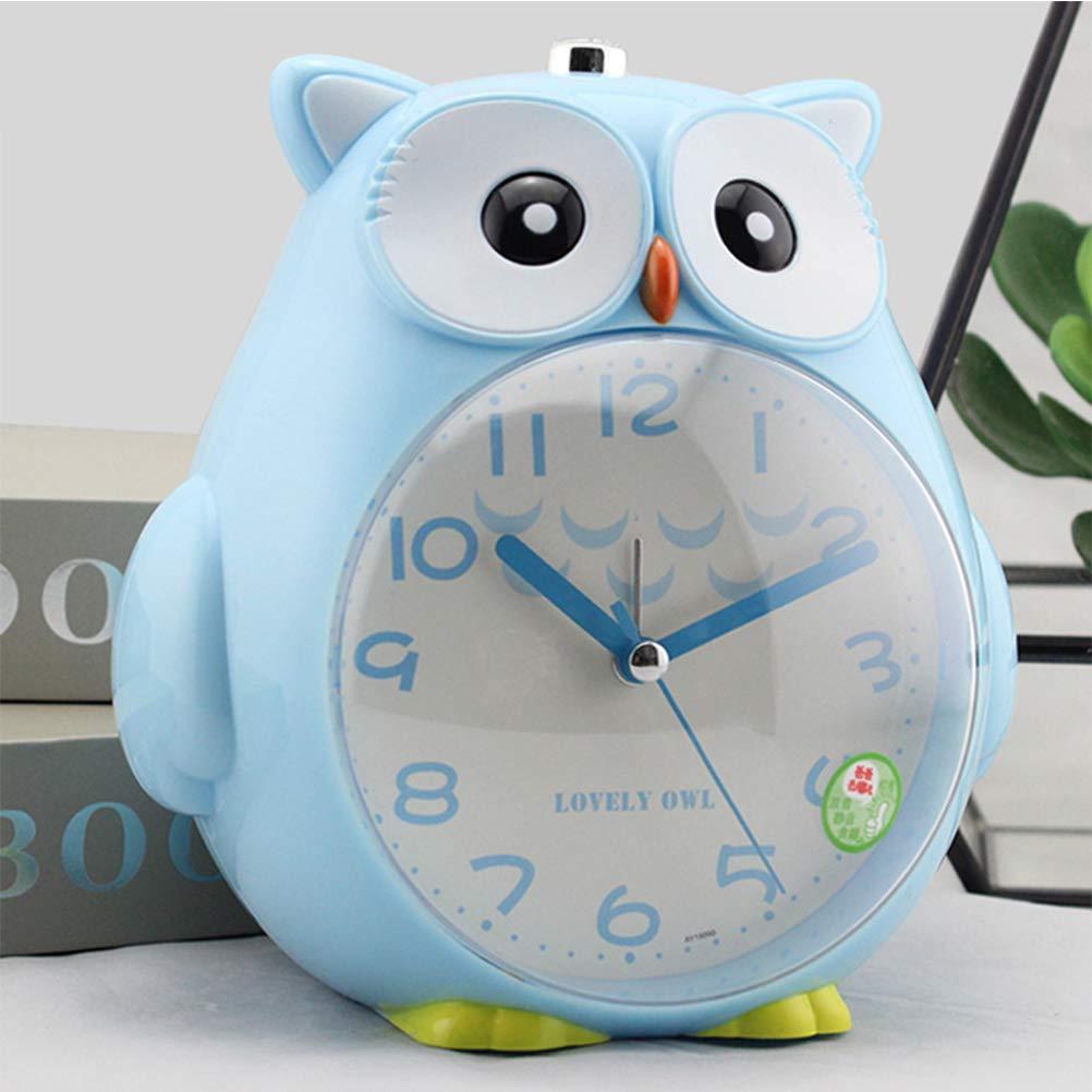 Chambre denfant b/éb/é Silent Night Light Alarm Clock R/éveil Silencieux Classique R/éveil Silent Motion Secouant Seconde Main Rampante pour Enfants Fille