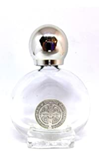 90.294.90 Ben Cruz de San Benito Botella Botella de cristal con tapón plateado para