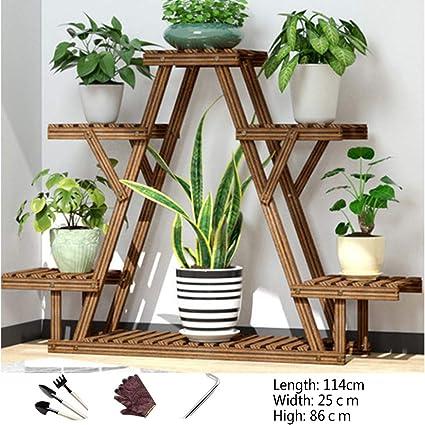 Estante de madera para plantas de 6 niveles, Estantería para ...