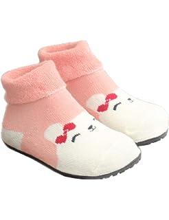 48d2e7fe202 Baby Boys Girls Slipper Socks Floor Walkers Shoes Socks Rubber Bottom Soles  Non Skid Non Water