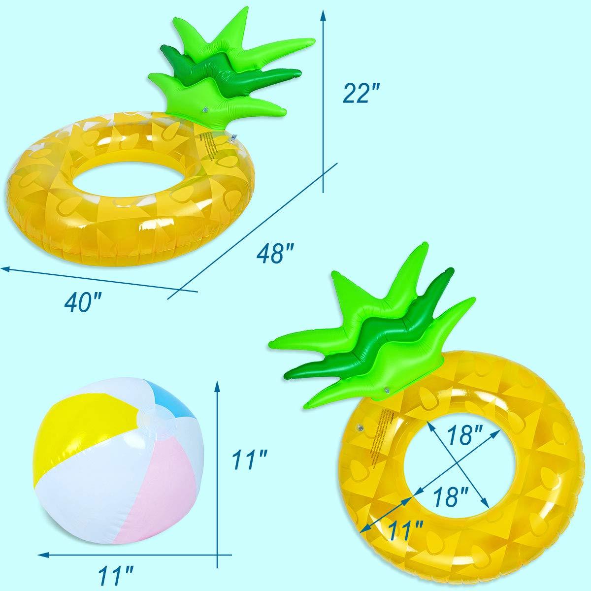 Amazon.com: Uneat Flotador de piña para piscina – Anillo de ...
