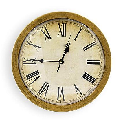 weiwei Reloj Vintage Número Romano, Reloj De Pared Caja De Almacenamiento Reloj De Pared De