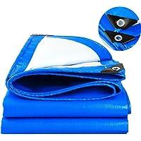 SOVIYAS Lona de alta resistencia Lona reforzada Ojales gruesos 2m x 3m 6ft x9ft (2 x 3 m,150g/m²) Lona de PE Lona azul…