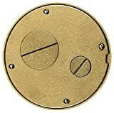 Hubbell Wiring Systems S1SPFFTBRS Brass Finish Cast Aluminum System One Tile Furniture Feed Cover/Flange Sub-Plate