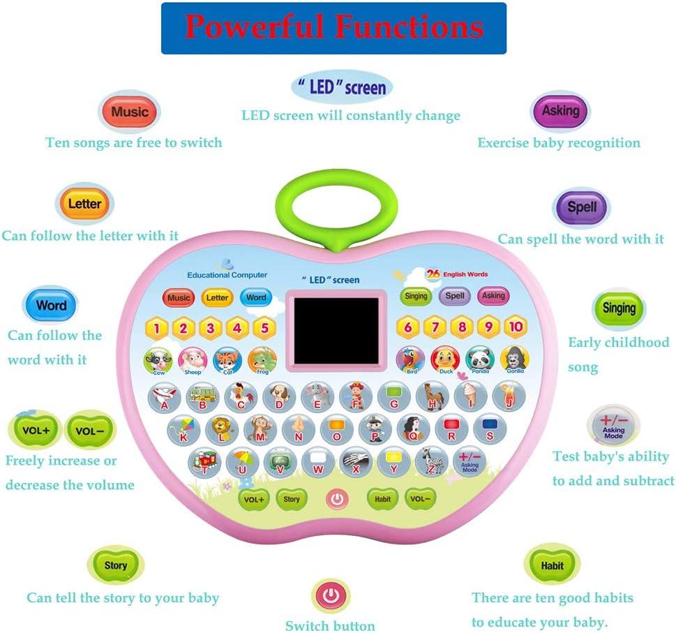 Miglior Regalo CITOY Versione Inglese Istruzione Apprendimento Computer Tablet Toy per Boy Girl Kids