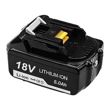 Topbatt BL1860B 5.5Ah Li-ion Ersatzakku f/ür Makita 18V Akku BL1860 BL1850B BL1850 BL1840B BL1840 BL1830 BL1835 BL1845 BL1815 LXT-400 mit LED-Ladeanzeige Elektrowerkzeuge