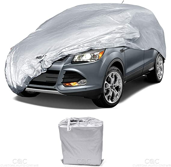 BDK All Weather Guard - Van SUV Car Cover for Compact/Small SUV Van Crossovers (Poly-2 Waterproof)
