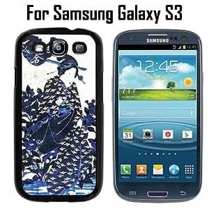 Geisha Art Blue Custom Case/ Cover/Skin *NEW* Case for Samsung Galaxy S3 - Black - Plastic Case (Ships from CA) Custom Protective Case , Design Case-ATT Verizon T-mobile Sprint ,Friendly Packaging - Slim Case