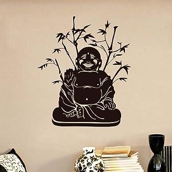 Jixiaosheng Pvc Fondo De Bambú Sonrisa De Buda Decoración De La ...