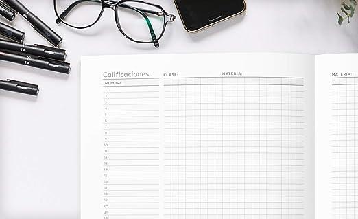 Cuaderno Del Profesor 2019 - 2020: Cuaderno del Profesor y Agenda 2019 - 2020 Práctico Organizador para docentes   Agendas Escolares para Profesores - ...