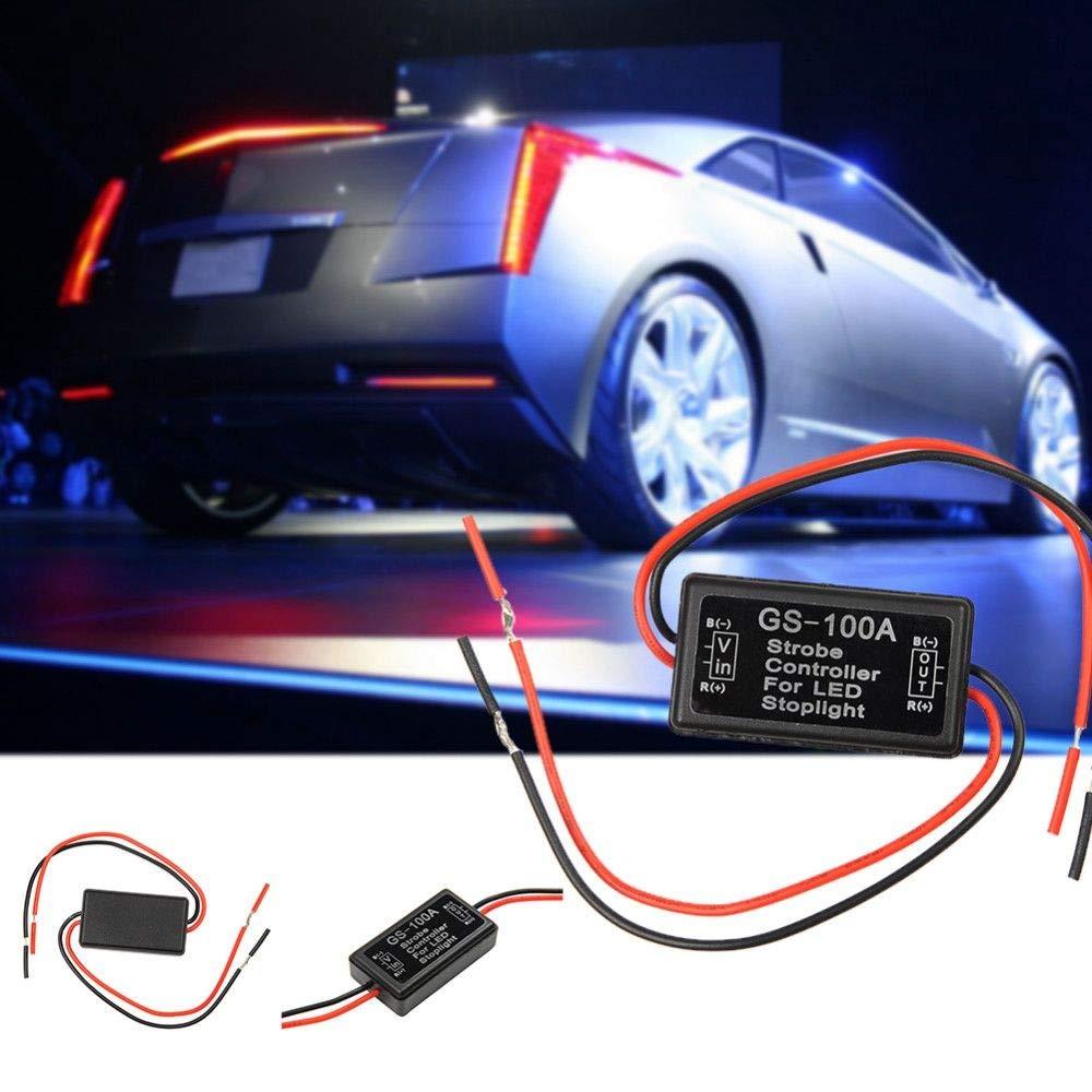 GS-100A Car LED Brake Stop Light Lamp Flasher Module Flash Strobe Controller New
