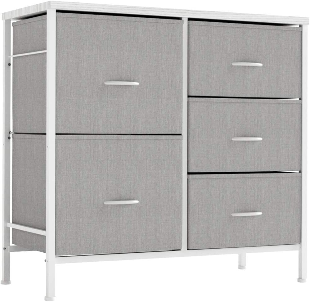 Amazon.com: ALLZONE Dresser For Bedroom, 5 Drawer Tower Unit Organizer For Nursery, Closets, Kids, Hallway, Entryway, Heavy Duty, Wooden Table, Gray: Kitchen & Dining