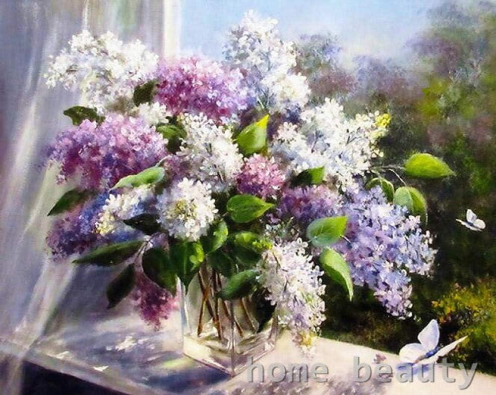 Diy Para Colorear Imagen Por Números Pintura Caligrafía Lienzo Cuadros Para Sala Dibujo Por Número Flores Mariposa
