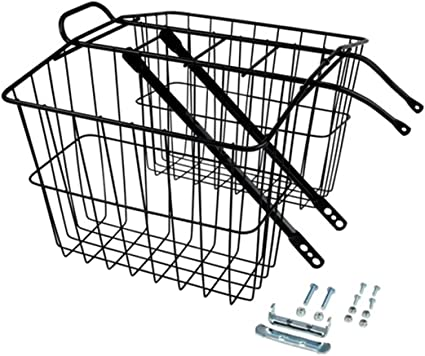 NEW Wald 520 Rear Twin Bicycle Carrier Basket 13.5 x 6.25 x 11 FREE SHIPPING