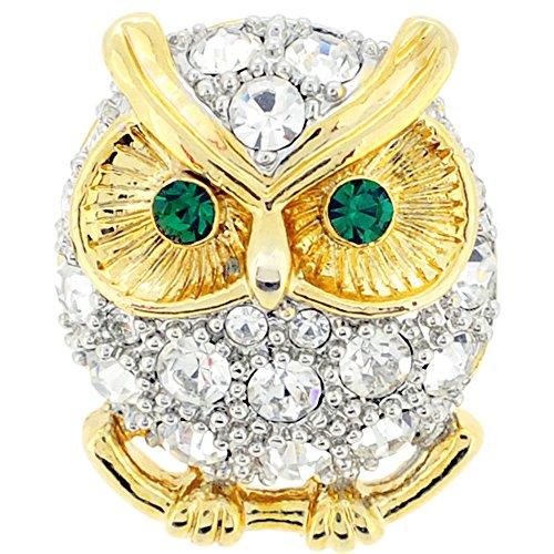 Crystal Owl Lapel Pin (Crystal Owl Pin)