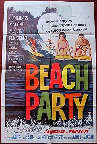 BEACH PARTY '63 1 SH POSTER FRANKIE AVALON ANNETTE FUNICELLO BEGAN SURF - Sh Surf