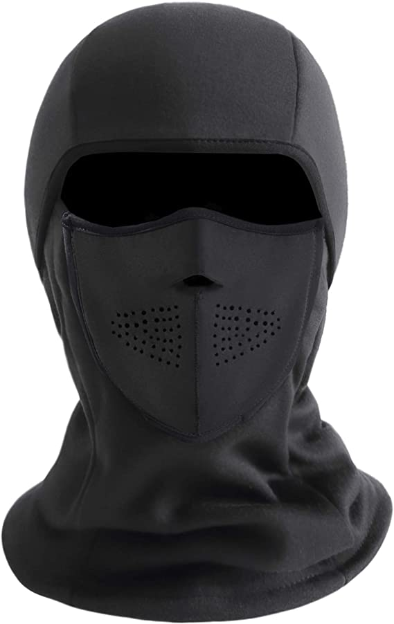 Details about  /Winter Windproof Motorcycle Balaclava Face Mask Thermal Fleece Neck Warmer Cap